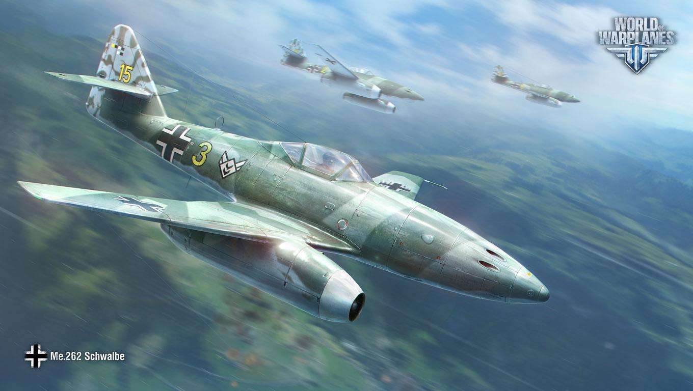 战机世界7月官方壁纸:威武霸气的me262